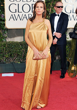 Actress Rachel Griffiths arrives at the 66th Annual Golden Globe